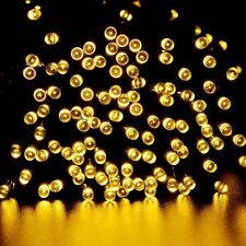 Warm White Solar Power 200 LED String Fairy Light Outdoor  For Christmas Party