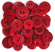 Jesse James Buttons ~ Dress It Up ~ COLOR ME RED ~ Round Sewing Buttons