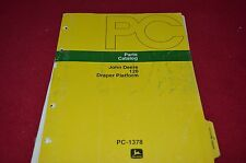 John Deere 120 Draper Platform Dealer's Parts Book Manual PANC