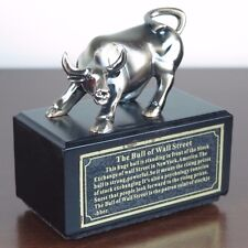 "Wall Street Bull Stock Market Piggy Bank Figurine Miniature Statue 5""L x 5""H New"
