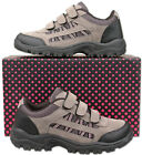Womens New Grey Pink Velcro Hiking Walking Trail Trainers Size 3 4 5 6 7 8