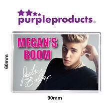 PERSONALISED JUSTIN BIEBER BEDROOM DOOR PLAQUE