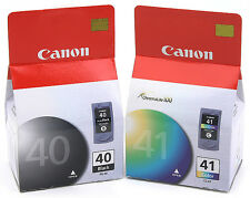 Canon Genuine PG-40 Black + CL-41 Color Set of 2 Ink Cartridges
