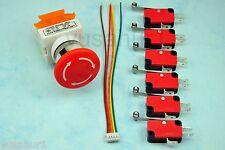 DIY CNC Limit Switch Emergency Stop button TB6560 Limit Cable Kit
