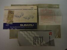 1985 Subaru Owner Manual with Case and Extras