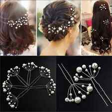 New  Jewelry Fashion Women Ladies Bridal Wedding Pearls Headband Hair Clip Comb
