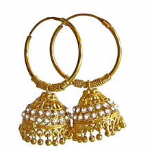 Rabbi Gold plated With Diamond Big Khusi Jhumka Earrings