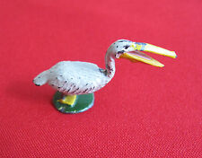 Antique Collectible bird Bronze marked ARGENTINA on bottom - white (#415)