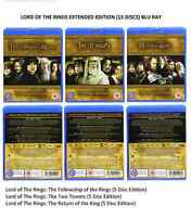 LORD OF THE RINGS TRILOGY (15 DISCS) EXTENDED EDITION BLU RAY Brand New and Seal