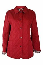*BURBERRY* RED QUILTED JACKET (M)