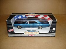 1/18th scale 1969 Plymouth Road Runner Ertl American Muscle box blue