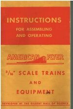 """INSTRUCTIONS FOR ASSEMBLING & OPERATING AMERICAN FLYER 3/16"""" TRAINS - PUB. 1954"""