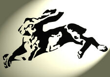 Shabby Chic Plastic Stencil Hare laying down Rabbit Vintage A4 297x210mm wall
