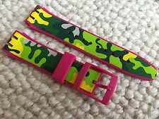 "NEW SWATCH SCUBA LIBRE BRACELET STRAP BAND 21MM ""CAPINK"" SUUP101 ASUUP101"
