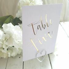 gold foil table numbers 1-10 wedding table numbers card numbers