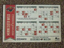 2013 Minnesota Wild (NHL) Fox Sports North team issued revised magnet schedule