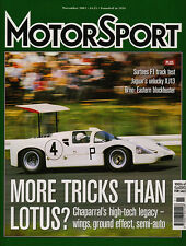 Motor Sport Nov 2003 - Chaparral 2D & 2F, Brno, Shelsley Walsh, Jaguar XJ13