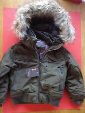 BEN SHERMAN MILITARY COAT WINTER PARKA FAUX FUR HOOD ARMY GREEN 5/6 NEW TAGS