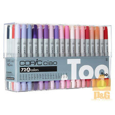 NEW  TOO COPIC Ciao Set A 72 color 72A PEN SET Artists Markers Anime Comic