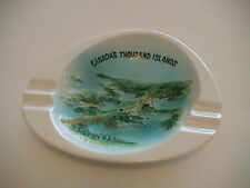 ONTARIO CANADA & NEW YORK THOUSAND 1000 ISLANDS BRIDGE SMOKING CIG ASH TRAY