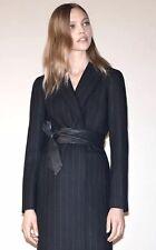 Zara Women's Pinstripe coat Size M Wool Coat $189