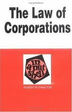 The Law of Corporations: In a Nutshell (In a Nutshell (West Publishing-ExLibrary