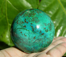 "50 mm (1.98"") CHRYSOCOLLA in MALACHITE Crystal Sphere Ball Peru"