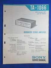 SONY TA-1066 INT AMPLIFIER SERVICE MANUAL ORIGINAL FACTORY ISSUE GOOD CONDITION