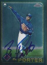 Bo Porter Texas Rangers 2001 Topps Chrome Signed Card