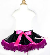 Infant Various Color Baby Girl Mix Peacock Feather Pettiskirt Tutu Dress NB-2Y