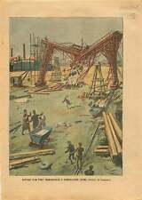 Bridge pont transporteur Gennevilliers Calberson Île de France 1905 ILLUSTRATION