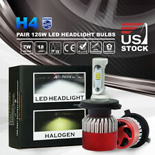 252W H4 Philips LED Headlights Kit Bulbs Hi-Lo Beam 25200LM vs Halogen Xenon