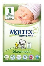6er Pack 138 St MOLTEX Nature No1 Peanuts Öko Babywindeln NEWBORN Gr 1 (2-4 kg)