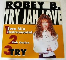 """ROBEY B. - TRY JAH LOVE - TRY - MIX 12"""" NUOVO UNPLAYED"""