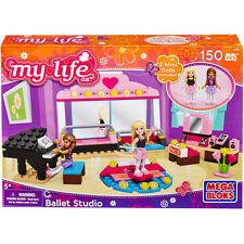 MEGA BLOKS My life as Ballet Studio 150 pcs SET 82709 Mini Dolls Dancing Friends
