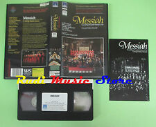 VHS George Frideric Handel MESSIAH Nelson Kirkby Elliott Hogwood(CL1) no cd dvd