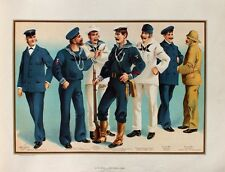 US Navy Uniform Matrose Sailor Seaman Steward Petty Officer Marine Gewehr Wache