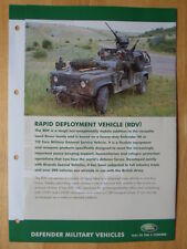 LAND ROVER 90 & 110 Rapid Deployment Vehicle (RDV) rare Military Brochure - 2008