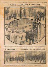 Prisoners Deutsches Heer Ambulance Croix Rouge Toulouse/Bordeaux WWI 1914