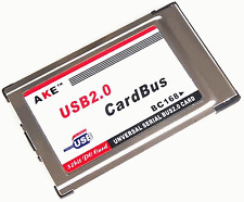 New PCMCIA to USB 2.0 Cardbus 2 Port Inside Hide Adapter + USB Cable 2 #312