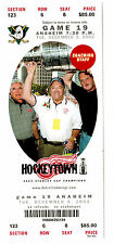 Detroit Red Wings 2002 Game Ticket featuring Scotty Bowman, Coaches, & THE CUP!!