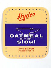 Unused 1950s-60s Hydes Oatmeal Stout Tavern Trove Manchester England