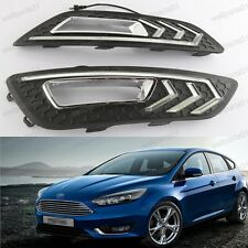 1Pair Bright DRL LED Daytime Running Light Fog Lamps For Ford Focus 2015 -2016