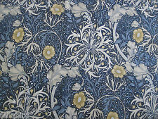 "WILLIAM MORRIS CURTAIN FABRIC ""Seaweed"" 3.7 METRES INK & WOAD DM3P224470"