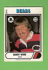 1976 NORTH SYDNEY BEARS  SCANLENS  RUGBY LEAGUE CARD #95  BARRY WOOD