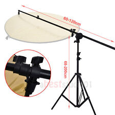 Photo Studio Light Holder Reflector Panel Arm Bar Grip Stand Photography Bracket