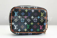 100% authentic LOUIS VUITTON 'wapity' pouch multicolor black wristlet bag case