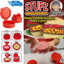 STUFZ STUFFED Burger Stampa PATTY MAKER HAMBURGER GRILL BBQ Juicy AS Seen ontv