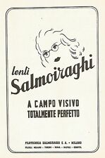 Y2295 Lenti Salmoiraghi - La Filotecnica - Pubblicità del 1942 - Old advertising