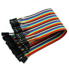 40pc Jumper Cable Wire 2.54mm 20cm 1P-1P para Arduino Breadboard Hembra a Hembra